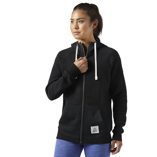 Reebok - Elements Quilted Full Zip Hoodie Black CD9353