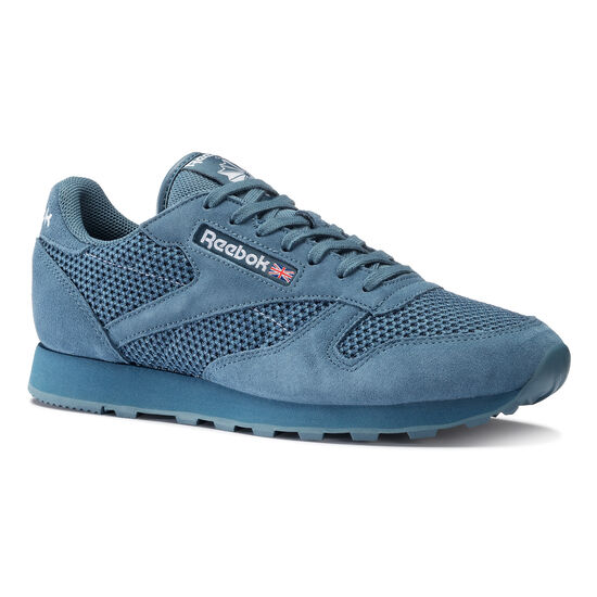Reebok - Classic Leather & Knitted Brave Blue/White BD1645