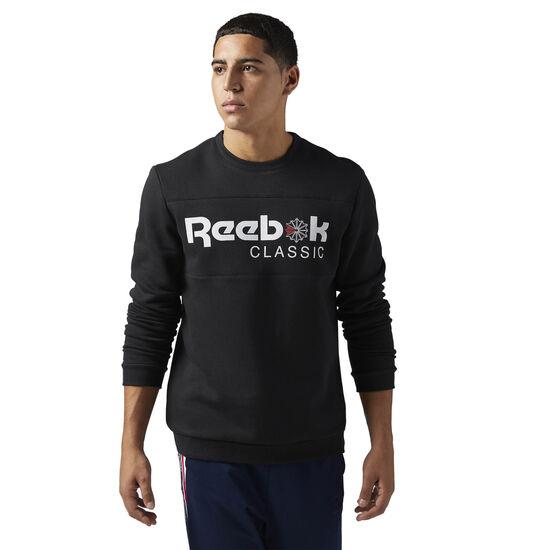 Reebok - Reebok Classics Iconic crewneck Sweatshirt Black BQ2655