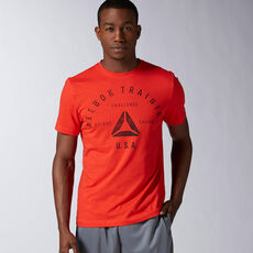 Reebok - Reebok Stamp Graphic Tee Riot Red AX8213