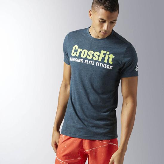 Reebok - Men's Reebok CrossFit Forging Elite Fitness Tee Mineral Blue BJ9330