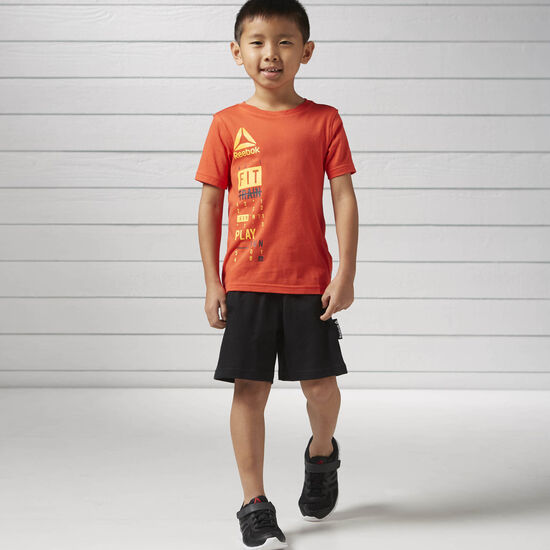 Reebok - Boys Essentials Short Sleeved Logo Set Carotene BK4384