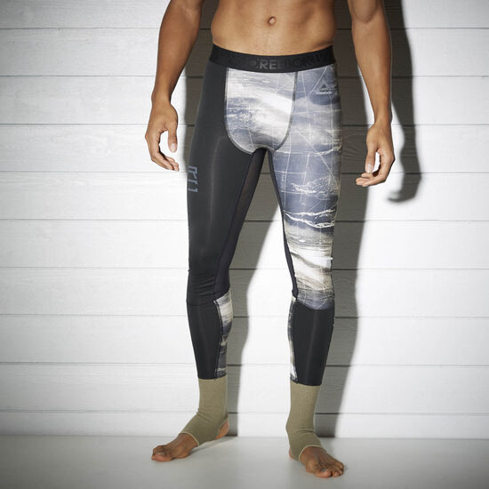 Reebok - Компрессионные брюки Reebok Combat Ankle Lock KHAKI S96504