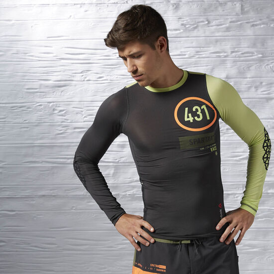 Reebok - Reebok Spartan Pro Long Sleeve Compression Top Coal AI1962