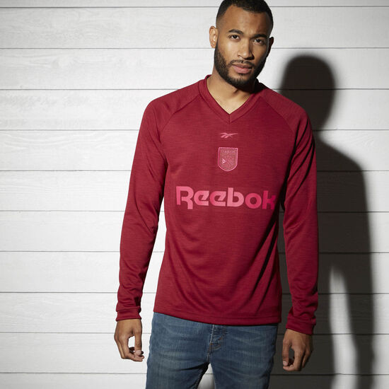 Reebok - Reebok Training Long Sleeved Shirt Collegiate Burgundy BK3814