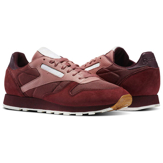 Reebok - Classic Leather Urban Descent Rugged Maroon/Sandy Rose/Maroon/Chk/White BS5228
