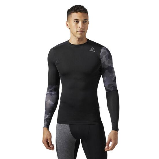 Reebok - ACTIVCHILL Graphic Long Sleeve Compression Shirt Black/Black BR9579