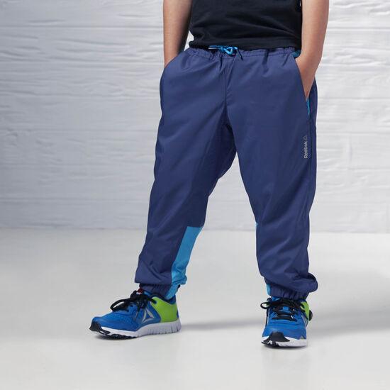 Reebok - Boy's Essentials Woven Cuffed Pant Blue Ink B47893