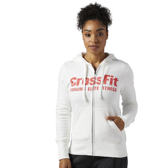 Reebok - Reebok CrossFit Full Zip Hoodie Chalk BP9198