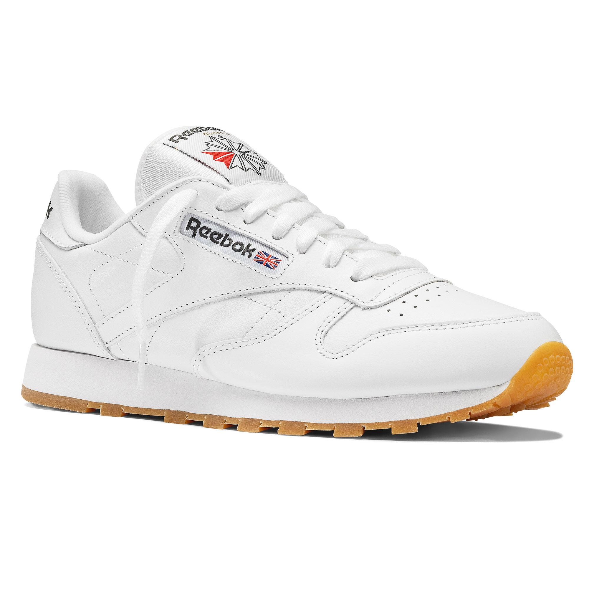 reebok classic leather blanche gum