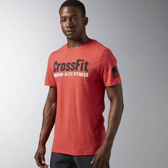 Reebok - Reebok CrossFit Forging Elite Fitness Tee Motor Red B28349