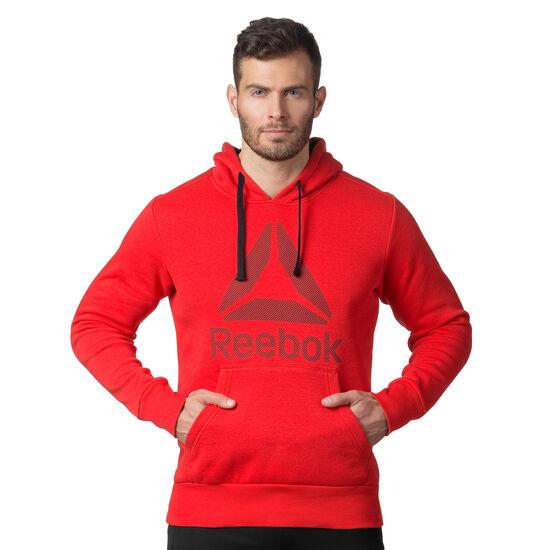 Reebok - Workout Ready Big Logo Cotton Poly Hoodie Primal Red/Black BK4160