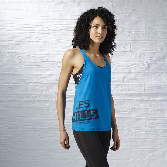 Reebok - Women's LES MILLS Dry Dye Racerback Tank Instinct Blue AZ0239