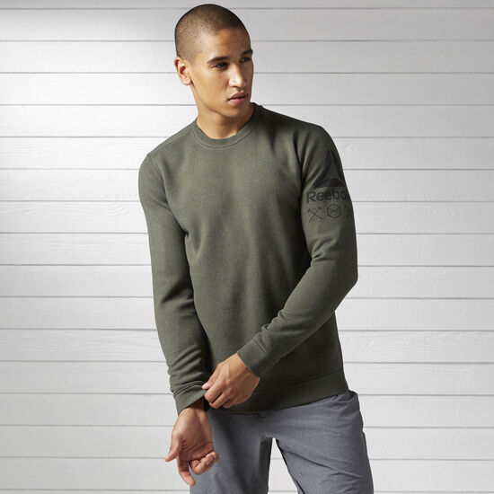 Reebok - Quik Cotton Dirty Wash Crew Sweatshirt Hunter Green BK3992
