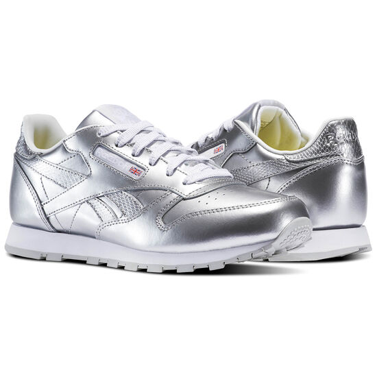 Reebok - Classic Leather Metallic Silver/White BS8945