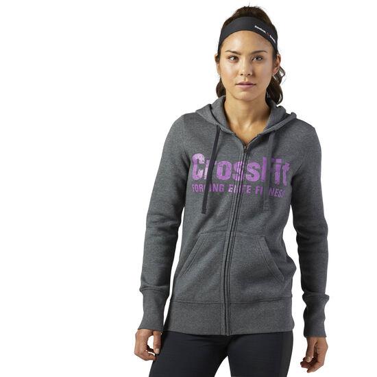 Reebok - Reebok CrossFit Full Zip Hoodie Dark Grey Heather BP9192