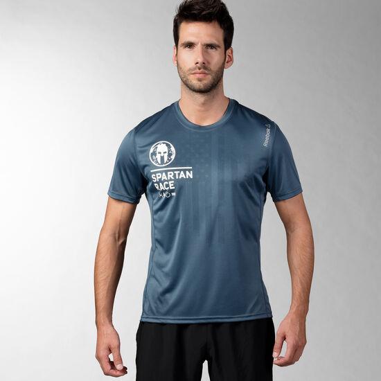 Reebok - Reebok Spartan Short Sleeve Tech Tee Royal Slate F16-R S96182