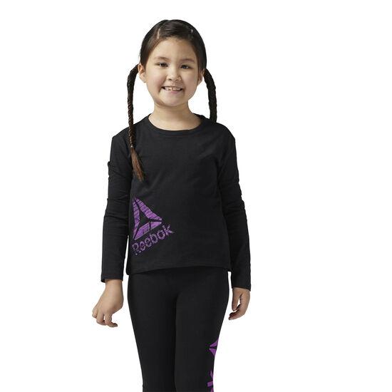 Reebok - Girls Essentials Long Sleeve Shirt Black BS1499