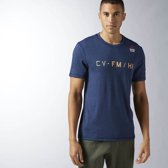 Reebok - T-shirt Reebok CrossFit Performance Blend Graphic Collegiate Navy BK1102