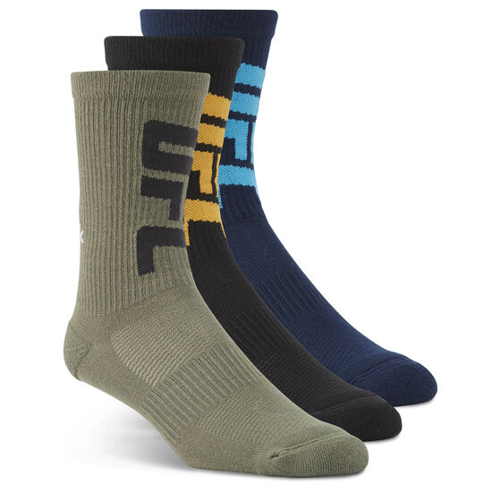 Reebok - UFC Fan Crew Sock Collegiate Navy/Black/Hunter Green BK5976