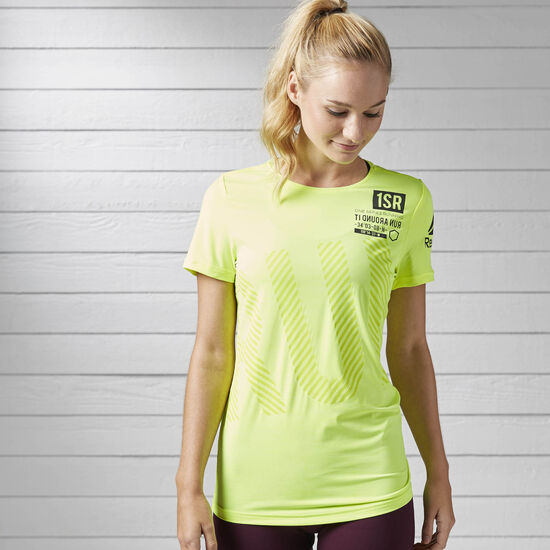 Reebok - Спортивная футболка Running ACTIVCHILL SOLAR YELLOW S99806