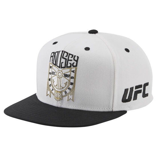 Reebok - UFC Ultimate Fan Flat Brim Snapback Hat White/Black BM7296