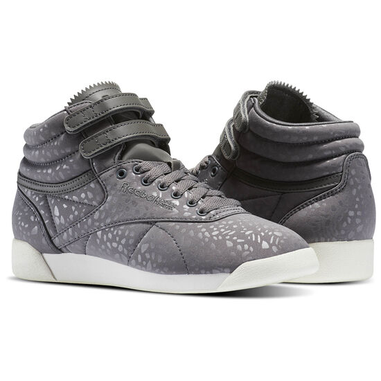 Reebok - Freestyle Hi LUX TXT Shark/Chalk BS6278