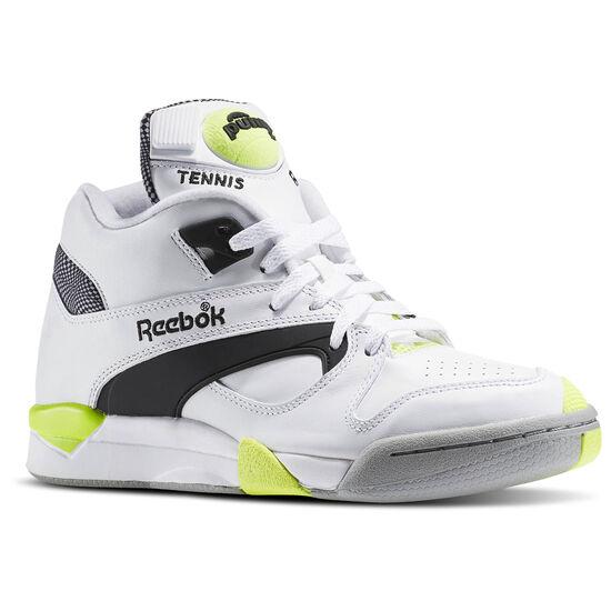 Reebok - Court Victory Pump White/Black/Solar Yellow/Rivet Grey/Carbon AR3174