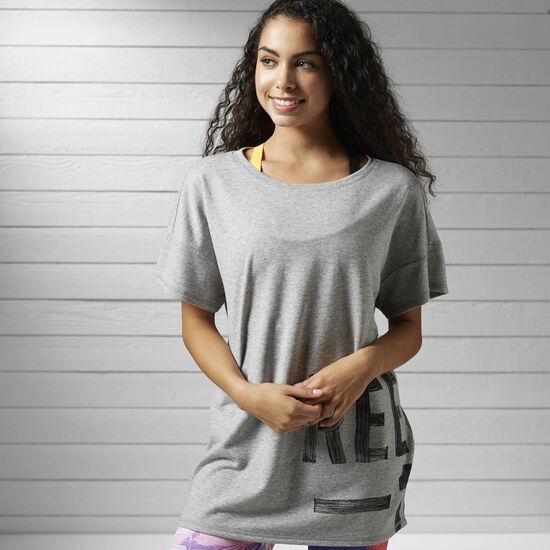 Reebok - Studio Favorites T-Shirt Medium Grey Heather B45986