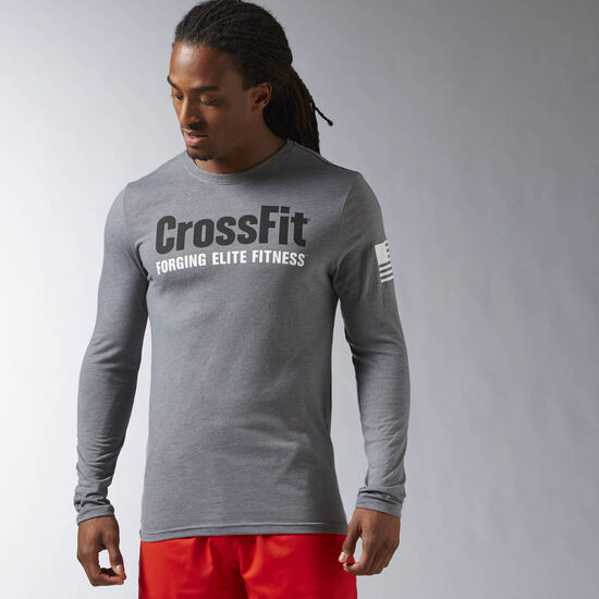 Reebok - Reebok CrossFit Forging Elite Fitness Long Sleeve Tee Alloy AY1035