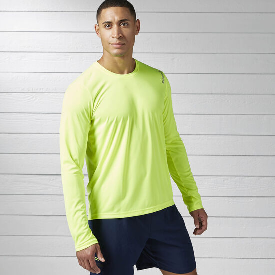 Reebok - Hommes Running Essentials Long Sleeve Tee Syello BK7255