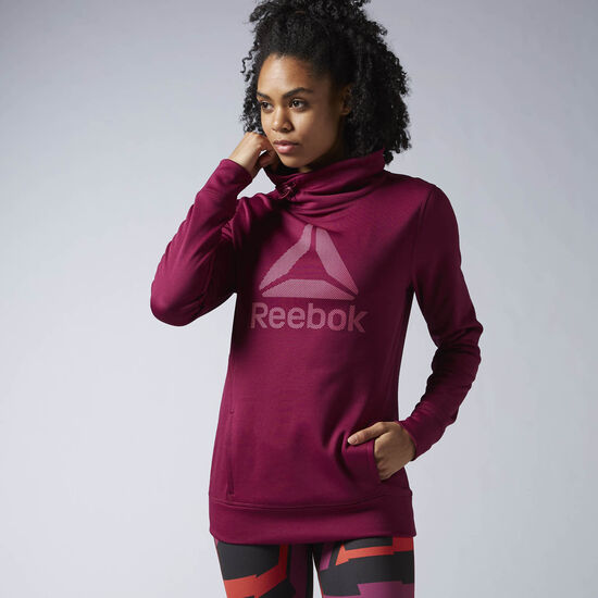 Reebok - Workout Ready Pullover Hoodie Rebel Berry /Poison Pink AY1946