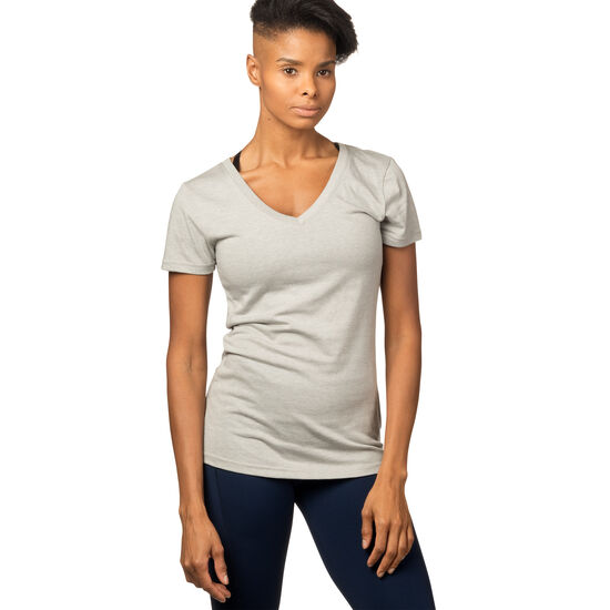 Reebok - T-shirt col V Reebok Training personalised Medium Grey Heather BQ2422