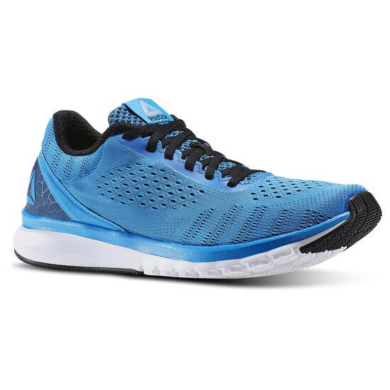 Reebok - Zapatillas de Running Print Run Smooth Ultraknit Horizon Blue/Black/White/Pewter/Awesome Blue BD4531