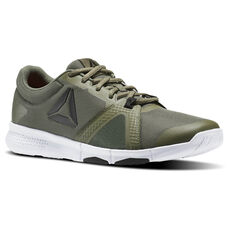 purchase cheap c5013 43534 ... Classic Green Suede Trainers Reebok - Reebok Flexile Hunter Green Primal  Red Coal White BS8049 ...