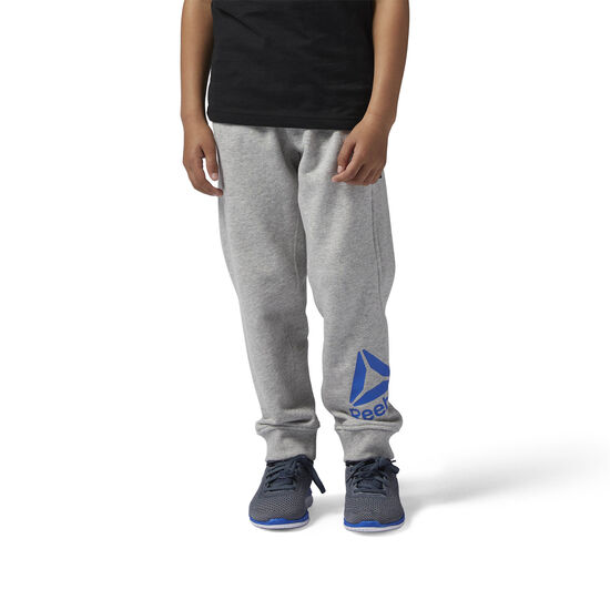 Reebok - Boys Essentials Big Logo Sweat Pants Medium Grey Heather/Vital Blue BS1466