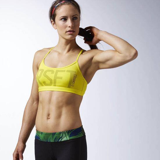Reebok - Brassière Reebok CrossFit Front Rack Yellow Spark AI9226