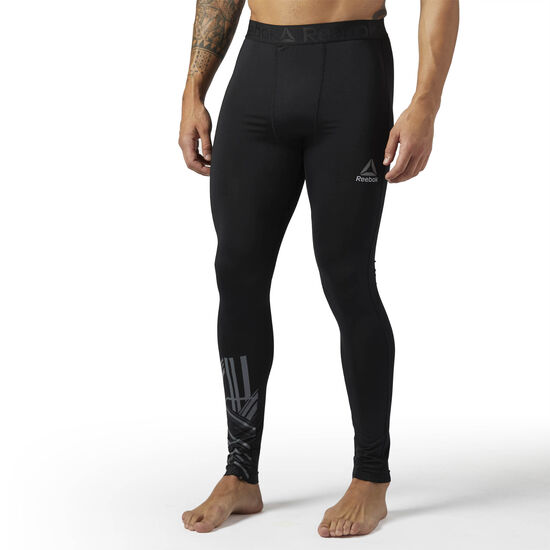 Reebok - Workout Ready Compression Brushed Tight Black BR7702