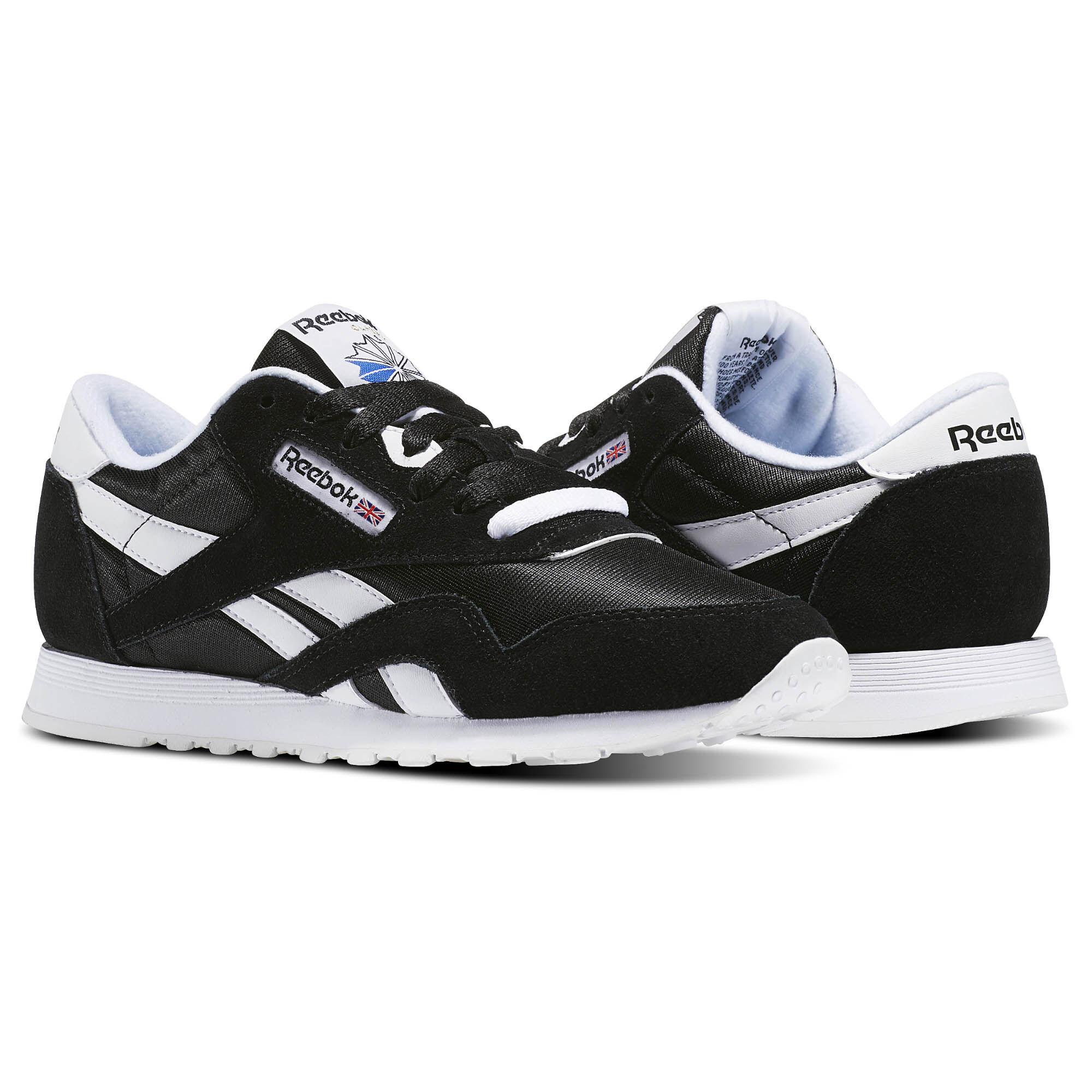 Reebok Classic Leather Noir Blanc