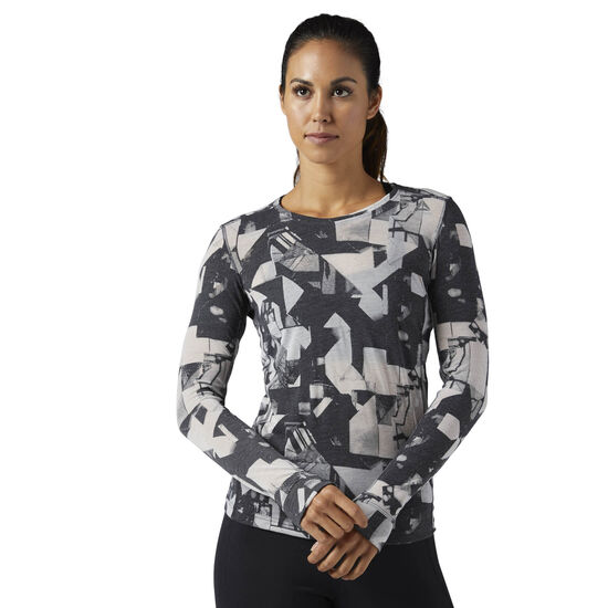 Reebok - Femmes Long Sleeve Tee Black BQ9694