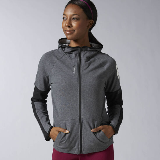 Reebok - Workout Ready Full Zip Hoodie Dark Grey Heather AY1895