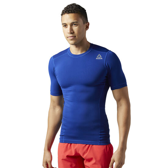 Reebok - Workout Ready Short Sleeve Compression Tee Deep Cobalt BQ5720