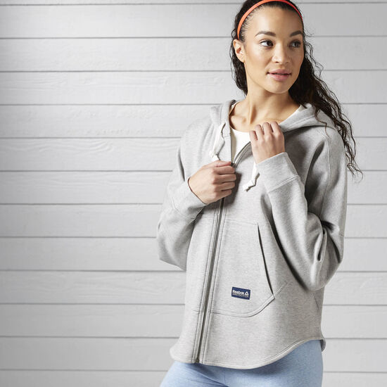 Reebok - Худи Elements Bluey Collab Full Zip MGREYH BK5203