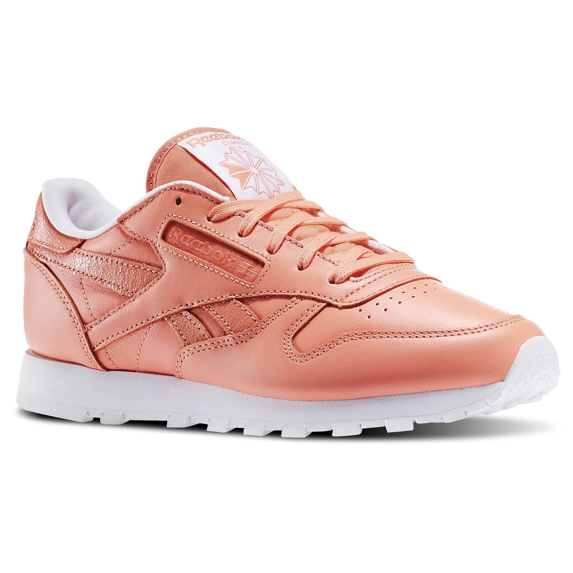 SOUR MELON//WHITE Reebok Classic Leather Pastel Grade School Kids Shoes BS8981