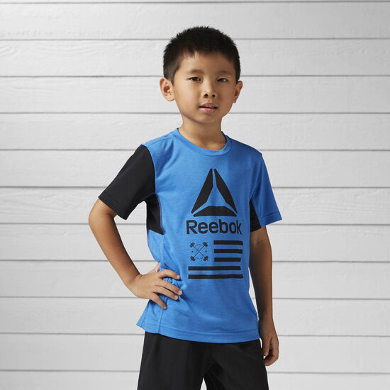 Reebok - Boys Training Tee Echo Blue BK5115