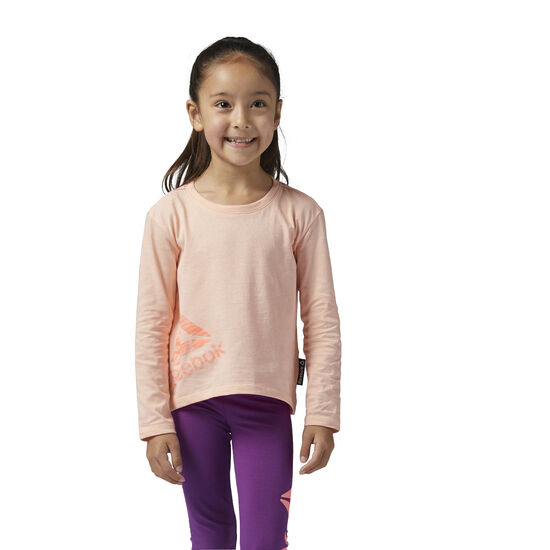 Reebok - Girls Essentials Long Sleeve Shirt Peach Twist BS1518
