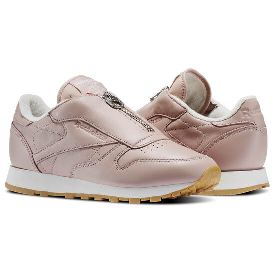 Reebok - Classic Leather Zip Shell Pink/Chalk/Silver Met BS8065
