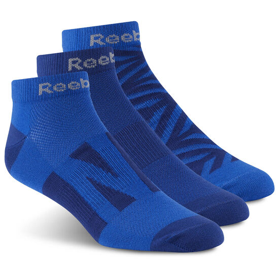 Reebok - Run Club Sock - 3 pair Deep Cobalt/Deep Cobalt/Vital Blue CD1412