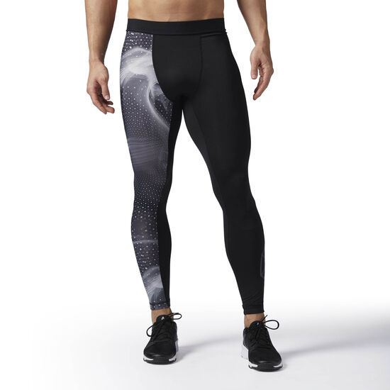Reebok - Printed Compression Tights Black BQ3472