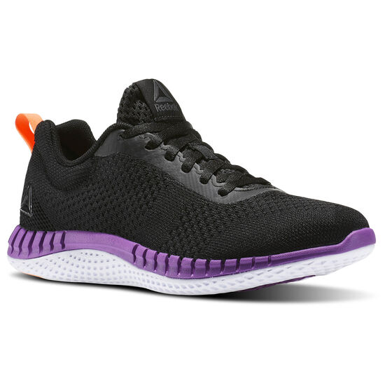 Reebok - Print Run Prime Ultraknit Coal/Black/Vicious Violet/Guava Punch BS8592